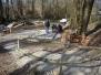Construction du cabanon au Martinet